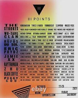 (1) 2-DAY GA Ticket 3 III Points Music Festival Wristband Miami 10/22 10/23 2021
