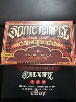1 2019 Sonic Temple Music Festival VIP Weekend Field 3 Day Pass Wristband Ticket