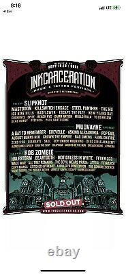 (1) 3 Day GA-Inkcarceration Music & Tattoo Festival- Wristbands Passes / Tickets