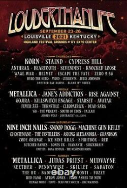 1 4-DAY GA Tickets Louder Than Life Music Festival 2021 Ticket