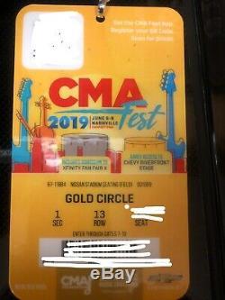 1 Ticket CMA Music Festival, Nashville Jun 6-9 (4 Day)