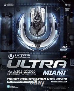 (1 Ticket) Ultra Music Festival Miami 2020