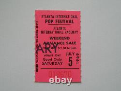 1969 ATLANTA POP FESTIVAL Original CONCERT TICKET STUB Led Zeppelin, Joplin