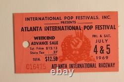 1969 Atlanta Pop Festival ticket stub plus a 9/29/69 Speckled Bird Newspaper
