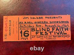 1969 BLIND FAITH FESTIVAL Artists Proof Concert Ticket Santa Barbara Fairgrounds