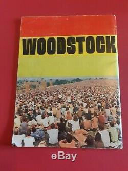 1969 Life Magazine Spec. Ed. Woodstock Music Festival Original Gold Ticket Psa 9