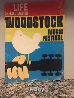 1969 Life Magazine Woodstock Music Festival With Original Ticket