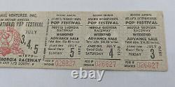 1970 ATLANTA INTERNATIONAL POP FESTIVAL UNUSED TICKET JIMI HENDRIX, ALLMAN etc