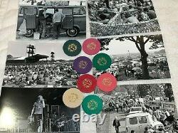 1970 GOOSE LAKE MUSIC FESTIVAL 8 CONCERT TICKETS TOKEN POKER CHIP MC5 Woodstock