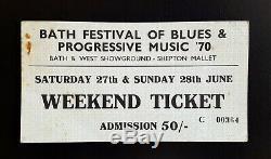 1970 LED ZEPPELIN PINK FLOYD Bath Festival of Blues & Progressive Music ticket