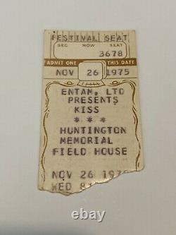 1975 Kiss Band Memorabilia Ticket Stub Festival Seat Alive! Tour West Virginia
