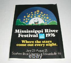1976 Mississippi River Festival Concert Poster Ticket Order SIU Edwardsville