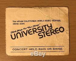 1979 Califfornia World Music Festival Los Angeles Concert Ticket Stub Van Halen