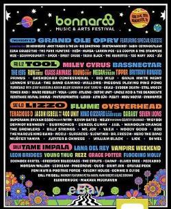 2 Bonnaroo 2020 Music Festival 4-day GA Passes plus (ONE) Darklight Tent a/c