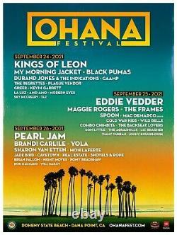 2 GA 3 DAY PASSES Ohana Music Festival 2021 (KoL, Eddie Vedder, Pearl Jam)