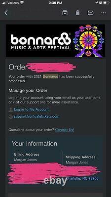 2 GA TICKETS 2021 Bonnaroo Music Festival 4 Day Pass 9/2-9/5 2021 TENNESSEE