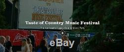 2 Taste Of Country Music Festival 3 Day Pass Tickets (June 7-9) Hunter Mt