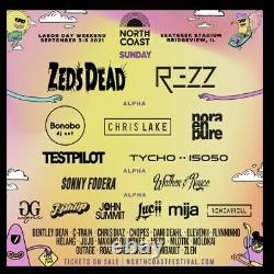 2 Tickets to Chicago North Coast Music Festival September 5 Free 1 Day Shipping