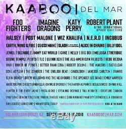 2 VIP Tickets KAABOO Music Festival 3 DayPass 9/14-16/2018 Foo Fighters ImagDrag