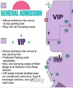 2 Vip Coachella Weekend 2 Music Festival-2 Passes 2020 For All 3 Days 4/17-4/19