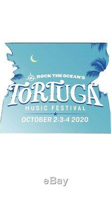 2 Wristbands/General Admission 2020 Tortuga Music Festival/3 Days