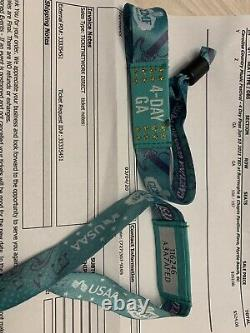 2 four day general Admission wrist bands to the Carolina Country Music Festival