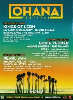 2 tickets Ohana music weekend festival Tickets 3 Day Eddie Vedder X 2