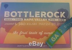 2019 BottleRock GA 3-Day Pass and LOCKER May 24-26th NAPA