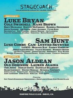 2019 Stagecoach Country Music Festival 3 Day GA Pass