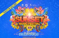 2019 Sunset Music Festival Tickets General Admission 2-DAY Weekend Wristbands