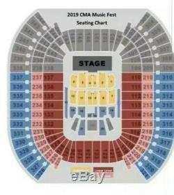 2020 CMA Music Festival 3 tickets Gold Circle SEC 2 ROW 17