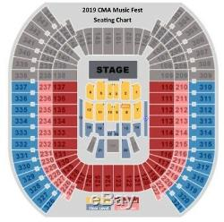2020 CMA Music Festival GOLD CIRCLE 2 (of 8) Tickets SEC 8 ROW 6 EXCELLENT VIEW