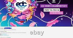 2021 EDC Music Festival Orlando Tickets 3-Day GA Experience Pass