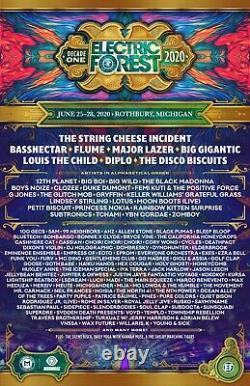 2021 Electric Forest Music Festival General Admission Wristband