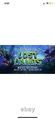 2x Lost Lands Music Festival 3 Day GA Wristbands+ Camping Pass+ Early Entry 2021
