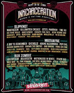 3-DAY GA Inkcarceration Music & Tattoo Festival Tickets Wristbands Passes