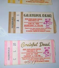 3 Vintage Rare GRATEFUL DEAD Ticket Stubs 1993 Music Sting Festival Concert