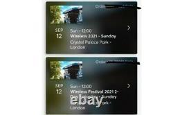 3 Wireless Festival Sunday only. 35.00 each