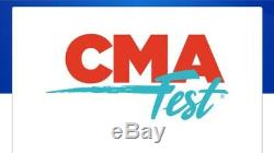 (4) CMA Music Festival 4 Day Passes/Tickets, June 4-7 2020, Sec 214 Row P