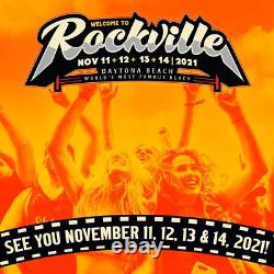 4-DAY GA Tickets Welcome to Rockville Music Festival 2021 Wristbands