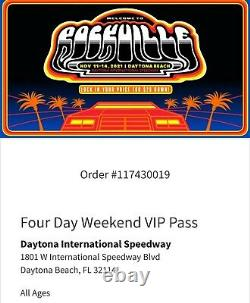 4-DAY VIP Tickets Welcome to Rockville Music Festival 2021 Wristbands