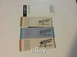 4 Texxas Music Festival 1985 Deep Purple Full Tickets Nmint Rare Clean Htf Vtg