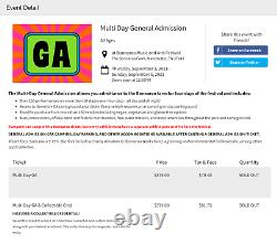4GA 2021 4-Day Bonnaroo Music Festival tickets + 2 Parking Passes