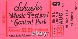 Aerosmith 1974 Get Your Wings Tour Schaefer Music Festival Unused Ticket