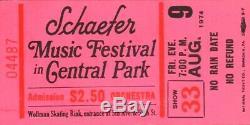 Aerosmith 1974 Get Your Wings Tour Schaefer Music Festival Unused Ticket