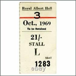 American Folk Blues Festival 1969 Royal Albert Hall Concert Ticket (UK)