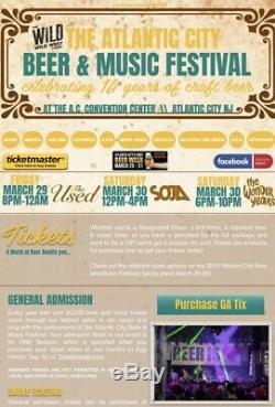 Atlantic City Beer & Music Festival 2 VIP Tickets