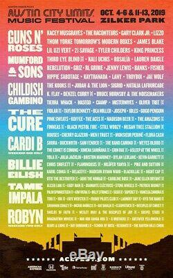 Austin City Limits ACL Music Festival 2019 Weekend 1 Wristbands Sold Out
