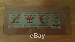 Authentic 1969 Woodstock Music & Art Festival 3 Day Ticket