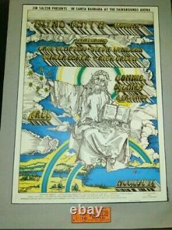 BLIND FAITH FESTIVAL (1969) CONCERT POSTER & TICKET Owned by Barrelhouse Chuck